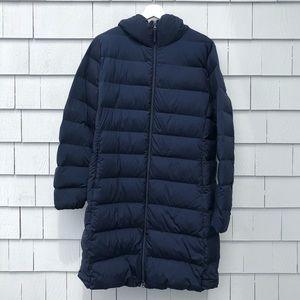 UNIQLO. 3/4 Length Puffer Jacket. Size XL. Navy.